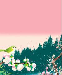 画像:2月 梅の花さく早春の森 川野隆司作品集 2018年カレンダー