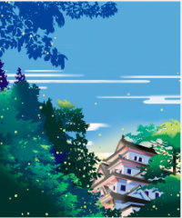 画像:5月 城の朝 川野隆司作品集 2018年カレンダー
