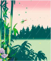 画像:6月 雨の竹林 川野隆司作品集 2018年カレンダー