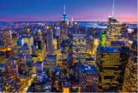 画像:10月 ニューヨーク(アメリカ) エンドレスシティ・世界の夜景 2018年カレンダー