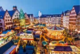 画像:12月 フランクフルト(ドイツ) エンドレスシティ・世界の夜景 2018年カレンダー