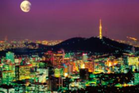 画像:2月 ソウル(韓国) エンドレスシティ・世界の夜景 2018年カレンダー