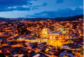 画像:4月 グアナファト(メキシコ) エンドレスシティ・世界の夜景 2018年カレンダー