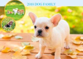 画像:10月 フレンチ・ブルドッグ ドッグファミリー 2018年カレンダー