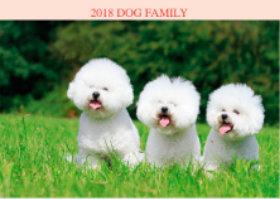 画像:11月 ビション・フリーゼ ドッグファミリー 2018年カレンダー