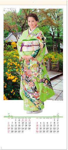 画像:5-6月 河北麻友子 松尾大社(京都) 華苑 2018年カレンダー