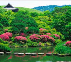 画像:5-6月 依水園(奈良) 庭の心 2018年カレンダー