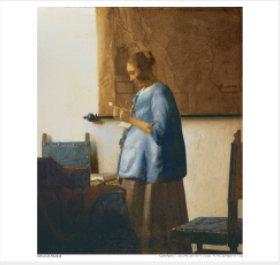 画像:7-8月 手紙を読む青衣の女 フェルメール 2018年カレンダー