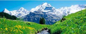 画像:5-6月 ユングフラウ・アレッチェ(スイス) 世界遺産 2018年カレンダー
