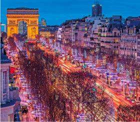 画像:11-12月 シャンゼリゼ通り(フランス) ヨーロッパ風景 2018年カレンダー