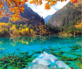 画像:11月 久寨溝(中国) 世界の景観 2018年カレンダー