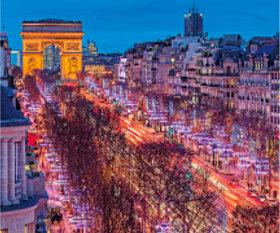 画像:12月 シャンゼリゼ通り(フランス) 世界の景観 2018年カレンダー