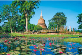 画像:2月 コスタイ歴史公園(タイ) 文化遺産の旅(ユネスコ世界遺産) 2018年カレンダー