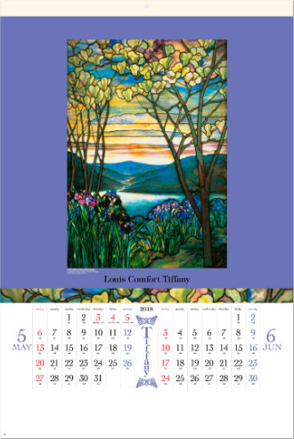 5-6月 Tiffany(フィルムカレンダー) 2018年カレンダーの画像