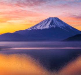 画像:10月 富士山(山梨) ワイドニッポン十二選(フィルムカレンダー) 2018年カレンダー