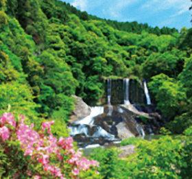画像:5月 龍門の滝(大分) ワイドニッポン十二選(フィルムカレンダー) 2018年カレンダー