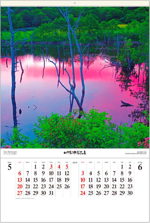 画像:5-6月 南由利原高原(秋田) 川隅功作品集(フィルムカレンダー) 2018年カレンダー