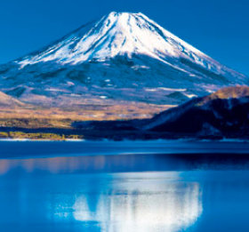 1-2月 本栖湖と富士山(山梨) 富士山(フィルムカレンダー) 2018年カレンダーの画像