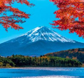 画像:9-10月 河口湖と富士山(山梨) 富士山(フィルムカレンダー) 2018年カレンダー