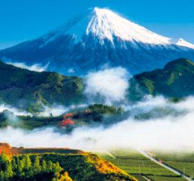画像:11-12月 清水区吉原より富士山(静岡) 富士山(フィルムカレンダー) 2018年カレンダー