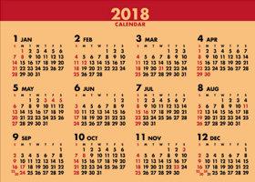 画像:12月裏面の年表 デスクスタンド・クラフト 2018年カレンダー