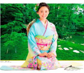 7-8月 おのののか(西明寺/滋賀) 女優・きものと庭園 2018年カレンダーの画像