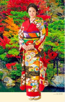 画像:9-10月 古泉葵(百済寺/滋賀) 女優・すがた 2018年カレンダー