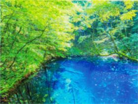 画像:6-7月 青池(青森) 彩り日本(12月はじまり) 2018年カレンダー