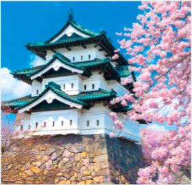 画像:3-4月 弘前城(青森) 日本の名城 2018年カレンダー