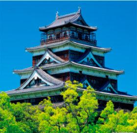 画像:5-6月 広島城(広島) 日本の名城 2018年カレンダー