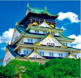 画像:7-8月 大阪城(大阪) 日本の名城 2018年カレンダー