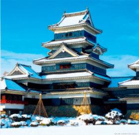 画像:11-12月 松本城(長野) 日本の名城 2018年カレンダー