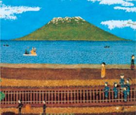 画像:1-2月 桜島 山下清作品集 2018年カレンダー