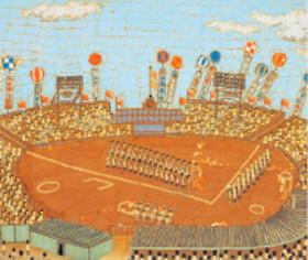 画像:3-4月 甲子園球場 山下清作品集 2018年カレンダー