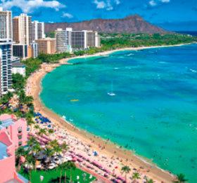 画像:1-2月 ワイキキビーチ(ハワイ・アメリカ) 世界のリゾート(フィルムカレンダー) 2018年カレンダー