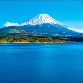 画像:1-2月 本栖湖と富士山(山梨) 美しい水辺(フィルムカレンダー) 2018年カレンダー
