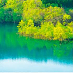 画像:5-6月 宝仙湖(秋田) 美しい水辺(フィルムカレンダー) 2018年カレンダー