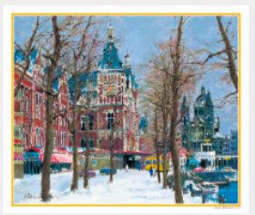 画像:11-12月 運河沿いの並木(オランダ) ヨーロッパの印象(フィルムカレンダー) 2018年カレンダー