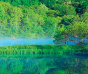 画像:5-6月 鏡池(長野) 日本の詩情(フィルムカレンダー・小) 2018年カレンダー
