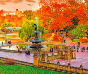 画像:9-10月 ニューヨーク(アメリカ) 世界の名勝(フィルムカレンダー・小) 2018年カレンダー