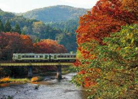 画像:9-10月 北上線「北上~横手」(岩手-秋田) ローカル線紀行 2018年カレンダー