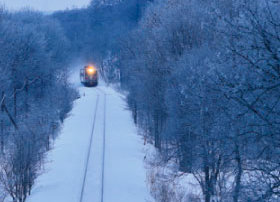 画像:11-12月 釧路本線「網走~東釧路」(北海道) ローカル線紀行 2018年カレンダー