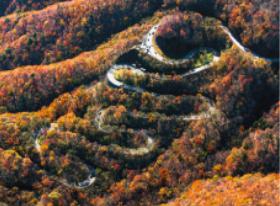 10月 いろは坂の紅葉(栃木) スカイジャーニー 2018年カレンダーの画像
