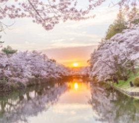 画像:4月 米沢城跡(山形) 日本の春秋 2018年カレンダー