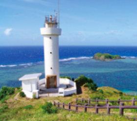 画像:7月 平久保崎灯台(沖縄) 日本の春秋 2018年カレンダー