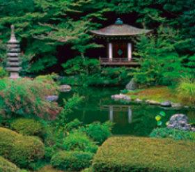 画像:9月 毘沙門堂(京都) 庭の詩情 2018年カレンダー