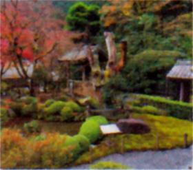 画像:10月 淑光院(京都) 庭の詩情 2018年カレンダー