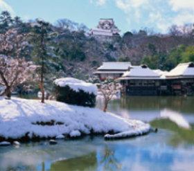 画像:1月 玄宮園(滋賀) 庭の詩情 2018年カレンダー