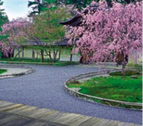 画像:4月 二尊院(京都) 庭の詩情 2018年カレンダー