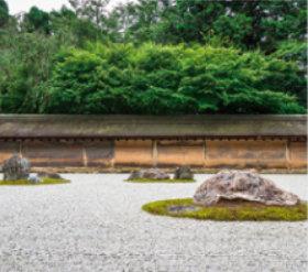画像:7月 龍安寺(京都) 庭の詩情 2018年カレンダー